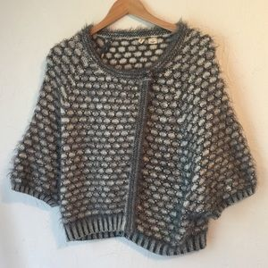 MOTH Anthropologie angora wool poncho sweater Med
